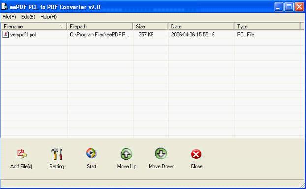 eepdf pcl to pdf converter