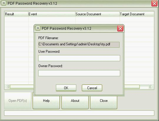 remove permissions password from pdf
