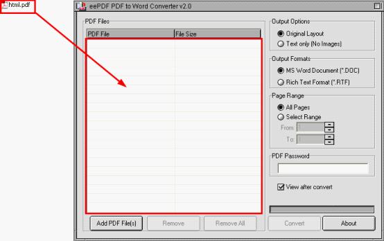 eePDF PDF to Word:PDF to DOCX