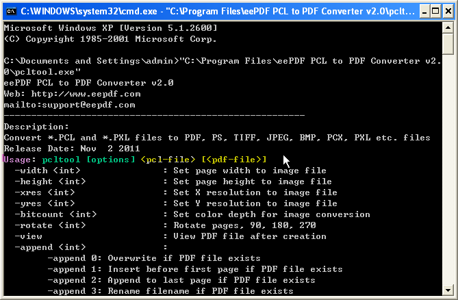 convert pcl to pdf